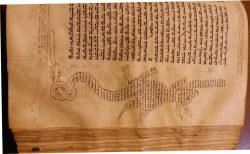 Orientalistinė rankraštinė Biblija su komentarais, mikrografijos technika surašytais mitinių gyvūnų formose
