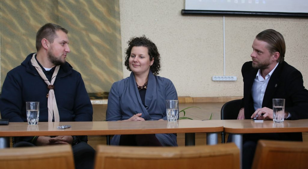 A discussion about the success stories of young Lithuanian (e)migrants. Photo: Dainius Vytas
