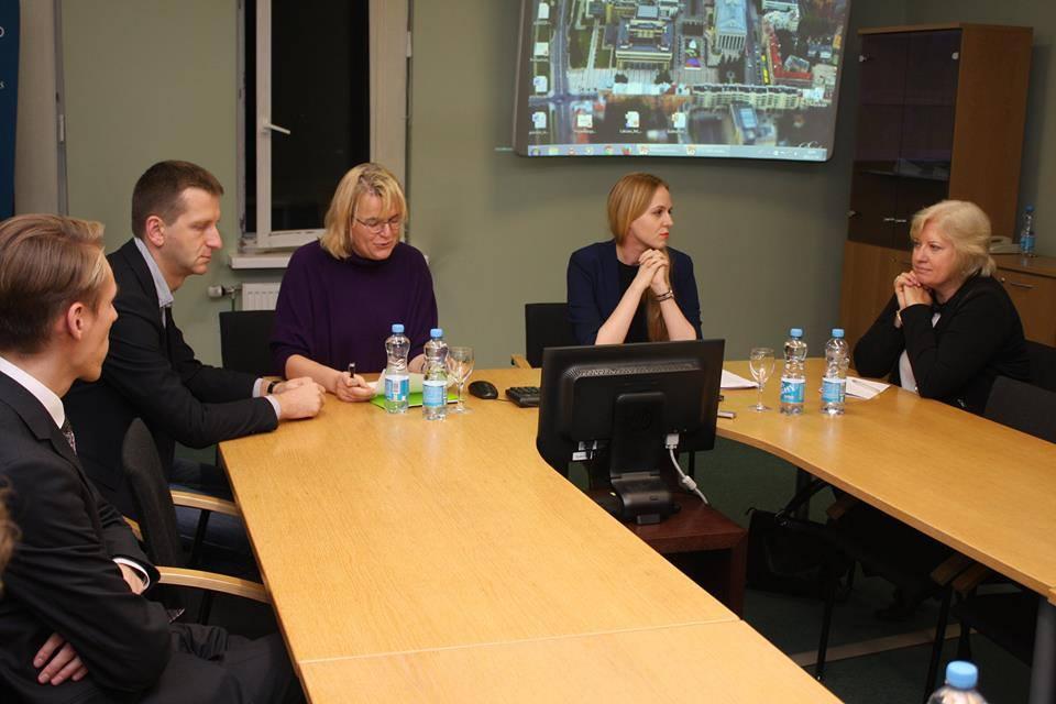 From the left to right: Vykintas Pugačiauskas, dr. Dovilė Budrytė, Valdonė Budreckaitė, Gintė Damušis